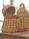 17 Inch Handwoven Straw Beeskep Basket