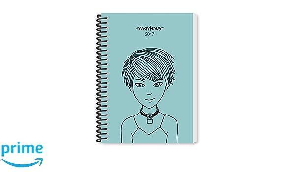 Maitena 2017 Agenda anillada - Azul claro (Spanish Edition ...