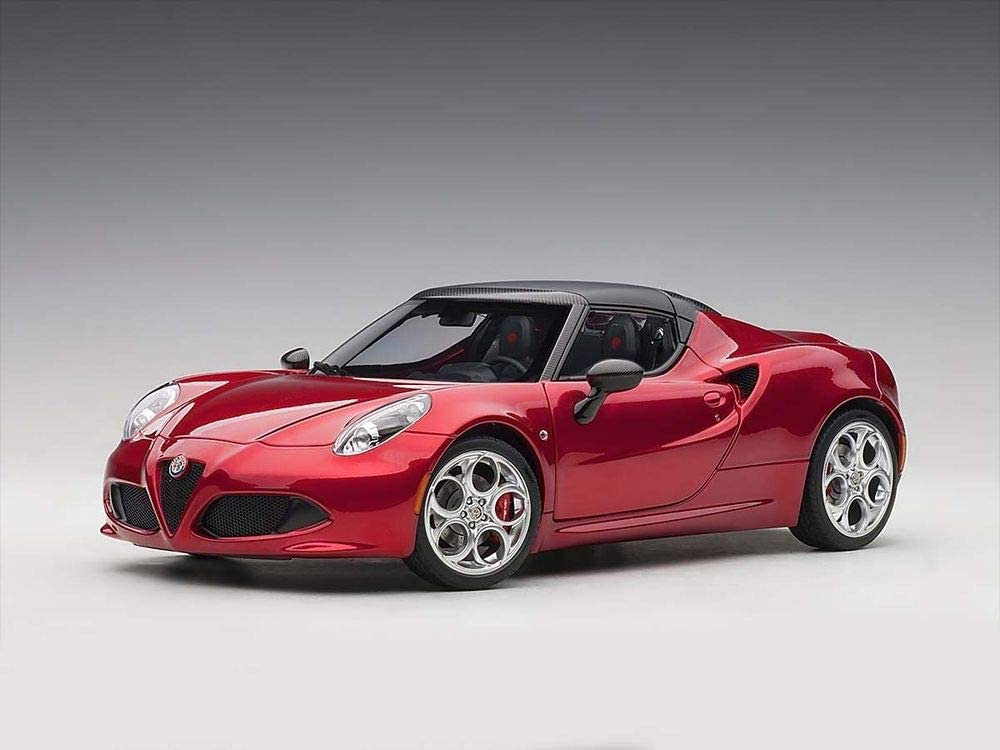 Alfa Romeo 4C Spider Competition Red with Black Top 1/18 Model Car by Autoart 70142