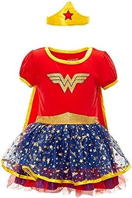 DC Comics Vestido de Wonder Woman con Capa y Tiara Dorada ...