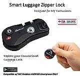 eGeeTouch NFC Smart Luggage Zipper Lock, Instantly Transform your old luggage to Smart Luggage (Matt Black)