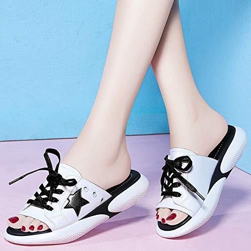 Zapatillas Zapatillas Zapatos white AJUNR de Cool señoras Zapatillas Playa Interior Casual Transpirable Zapatos de Deportes Mujer qA7EU