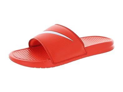10390a425ca9d Image Unavailable. Image not available for. Color  Nike Orange Benassi  Swoosh Slide Sandals - Men