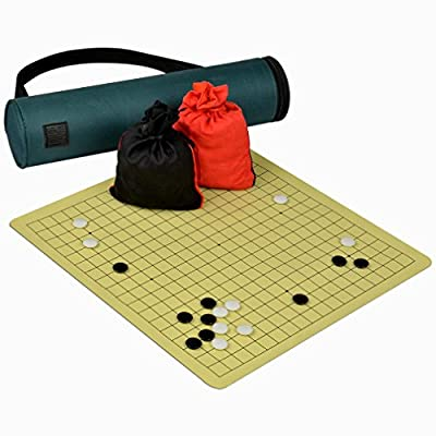 Magnetic Go Board with Single Convex Magnetic Plastic Stones Game Set