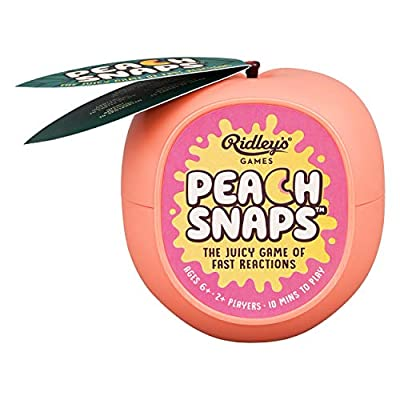 Ridley's Fast Reaction Peach Snaps Family Action Card Game, Ages 6+, 2+ Players: Toys & Games