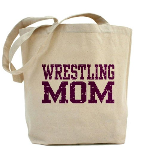 CafePress–Wrestling Mom–Borsa di tela naturale, panno borsa per la spesa