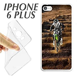 J259 IPHONE 6 PLUS 6+ CARCASA FUNDA TPU MOTOCROSS PILOTO CARRERA