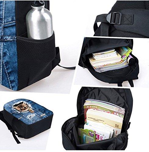 Basketball Print Kids Boy Backpack School Bookbag Lunch Bag Pencil Bag 3 Pieces Set by Mumeson (Image #3)