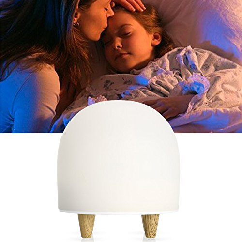 Night Light Baby Lamp - Visen 2 Grades Brightness 7 Display Color Safe ABS and Silicone Touch Light with Soft Light Touch Sensor and Time Display Function for Kids and The Elderly, Decorate Room