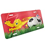 Metal License Plate Soccer Team Flag Aquitaine (Aquitaine) region France - Neonblond