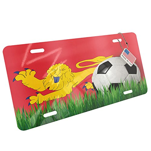 Metal License Plate Soccer Team Flag Aquitaine (Aquitaine) region France - Neonblond by NEONBLOND