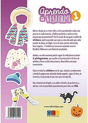 Aprendo a vestirme / Editorial GEU/A partir de 3 años/ Aprendo a vestirme / Material lúdico-didáctico/ Incluye pictogramas: Amazon.es: EDITORIAL GEU: Libros
