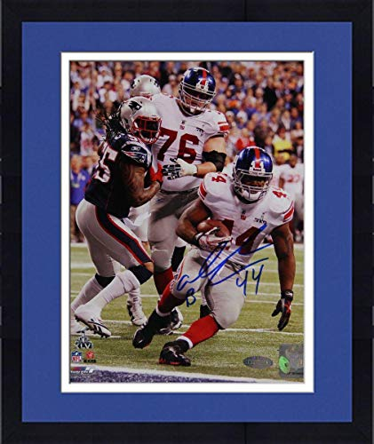Framed Ahmad Bradshaw Super Bowl XLVI GW TD Fall Into Endzone Signed 16x20 Photo - Steiner Sports Certified