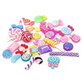 Honbay 30PCS Slime Charms, Assorted Flatback Resin Slime Beads for Scrapbooking, Hair Clip, DIY Crafts, etc (Candy)