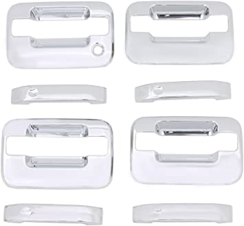 For Ford F150 2004-2014 Chrome Covers Set 4 Door Handles WITH Keypad /& Keyhole