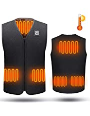 Fxexblin Electric Heated Vest, Heating Jacket Clothing Warm Jacket Gilet with USB Charging