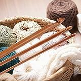 D-FantiX 20 Pcs Bamboo Crochet Hooks Set Ergonomic