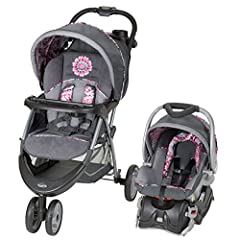 The EZ Ride 5 Travel System in Paisley includes a fixed back infant car seat with an EZ Flex-Loc stay in car base. The Baby Trend EZ Ride 5 Travel System is the perfect solution for new parents. The three-wheel stroller provides outstanding e...