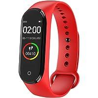 M4 Smartwatch,IP 67 Waterdichte Fitness Tracker Smart Armband Bloeddruk Hartslagmeter voor Man en Vrouw
