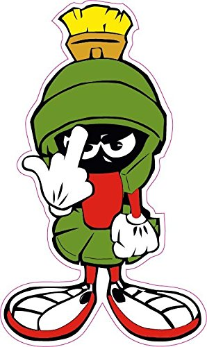 "Marvin the Martian F you Small Decal 3"" Free Shipping from the United States"