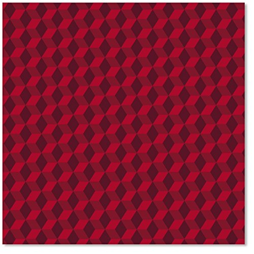 Hallmark - Handsome Red Christmas Wrapping Paper - One Roll - 45 Square Feet - 18 Feet x 2.5 Feet ()