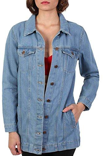 PILOT® larga chaqueta de mezclilla estilo novio azul índigo
