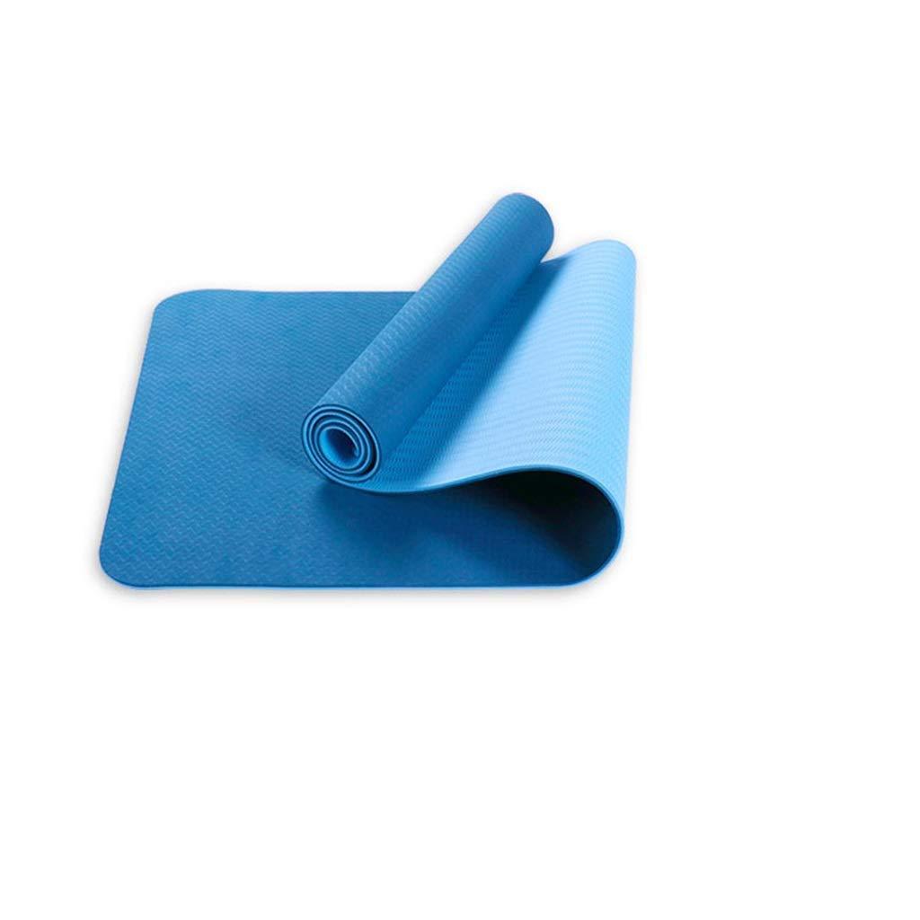 滑り止めヨガマットTPEスポーツマットフィットネス183 * 80 * 0.6 cm / 183 * 80 * 0.8 cmマルチカラーオプション (色 : A, サイズ さいず : 183*80*0.8cm) B07NMGJJC1 183*80*0.6cm A A 183*80*0.6cm