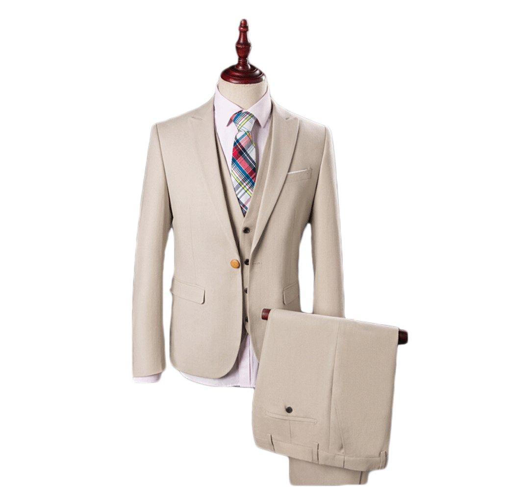 Love Dress Men's Summer Thin Fit Suit 3-Piece Suit Wedding Men Suit 5XL