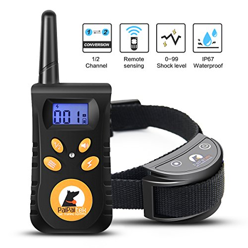 Winshope Dog Training Collar,2018 Upgraded Dog Shock Collar 500yd Remote Rechargeable Waterproof Safe Electric Training Collar With Beep/Vibration/Electrostatic For Small Medium Large Dogs For Sale