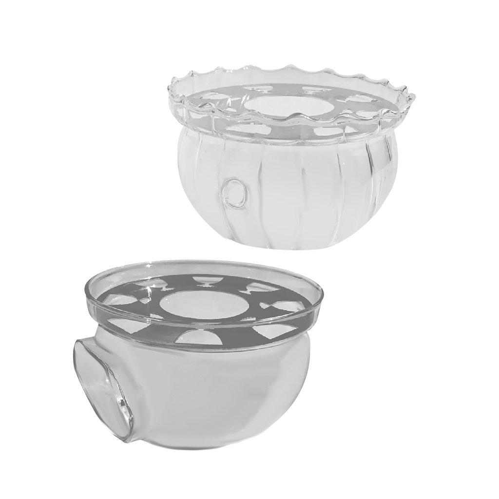 MonkeyJack 2 Pieces Glass Teapot Warmer Tealight Heating Holder for Flowering Tea Green Tea Black Tea Puer and Coffee Milk Tea