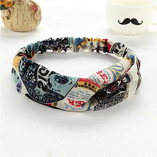 (Fashion Women Turban Twist Knot Head Wrap Headband Twisted Knotted Hair Band (Main Colour - Chiffon#3))