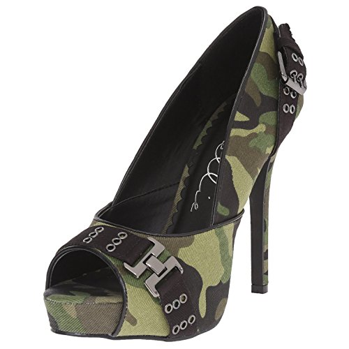 High Heel Pump Shoes Camo