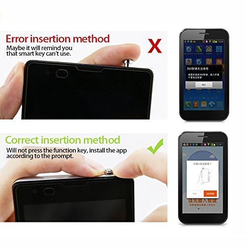 Sungpunet Tap/ón antipolvo para auriculares de 3,5 mm para smartphone Andriod bot/ón r/ápido color plateado