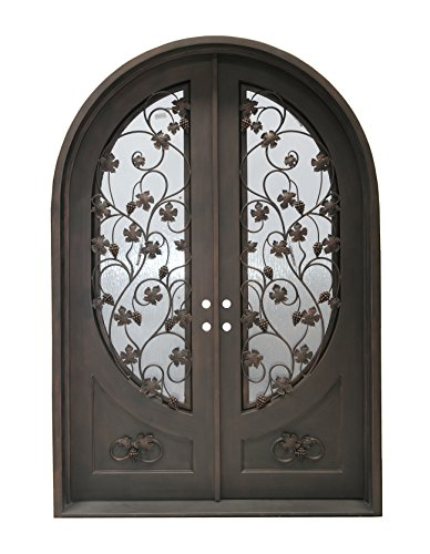 MCM3 Double Wrought Iron Entry DoorsAged Bronzetraditional DesignLOW-E Double Glass834 ftx567 ft