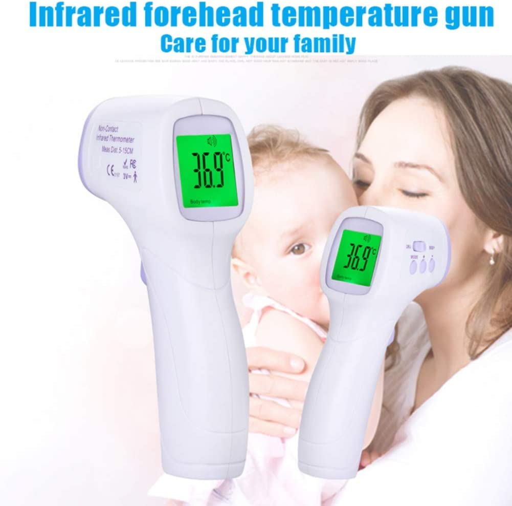 MorningBreeze Infrared Thermometer Non-contact Handheld Digital Temperature Reading Device Baby Forehead Body