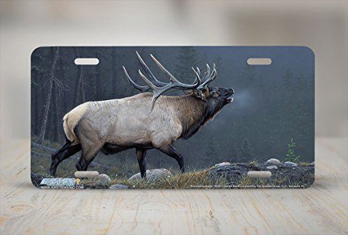 Elk License Plate<br>Weather Resistant