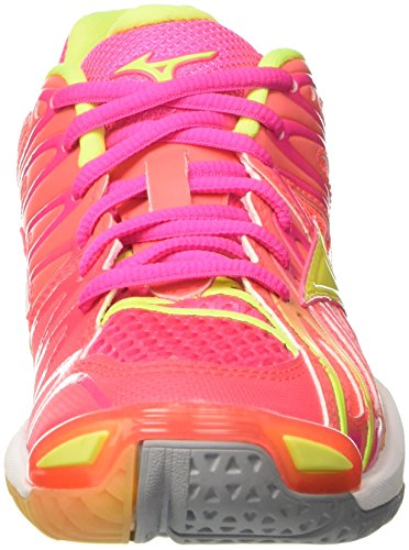 Para Multicolor pinkglowhiteirongate Wave De X2 Voleibol Wos Mujer Zapatos Mizuno Tornado wqF0HvT