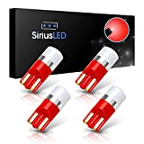 07 silverado interior - SiriusLED AG Super Bright 300 Lumen Ultra Compact LED Interior Light Bulb Size 168 175 194 2825 Pack of 4 Color Red