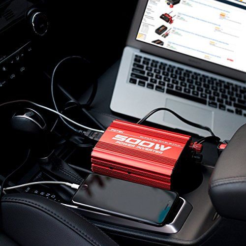POTEK 500W Car Power Inverter DC 12V to AC 110V with 2 AC outlets and 2A USB Port by POTEK (Image #6)