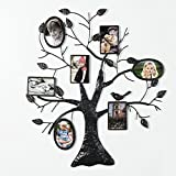 Joveco Brown Black Decorative Collage Bronze Iron Metal Wall Hanging Family Tree Picture Photo Frame, 7 Opening, 4×6″ 4×4″ Review