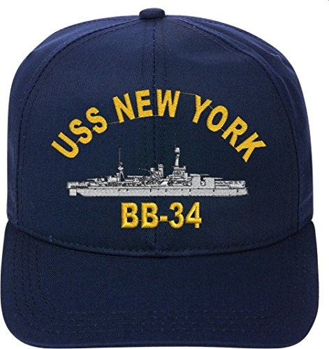 USS NEW YORK BB-34 Direct Embroidered Ship Cap..New