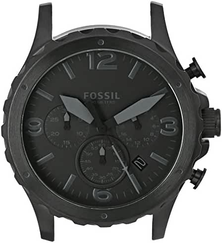 Fossil Men's C221026 Nate Chronograph Black Stainless Steel 22mm Case