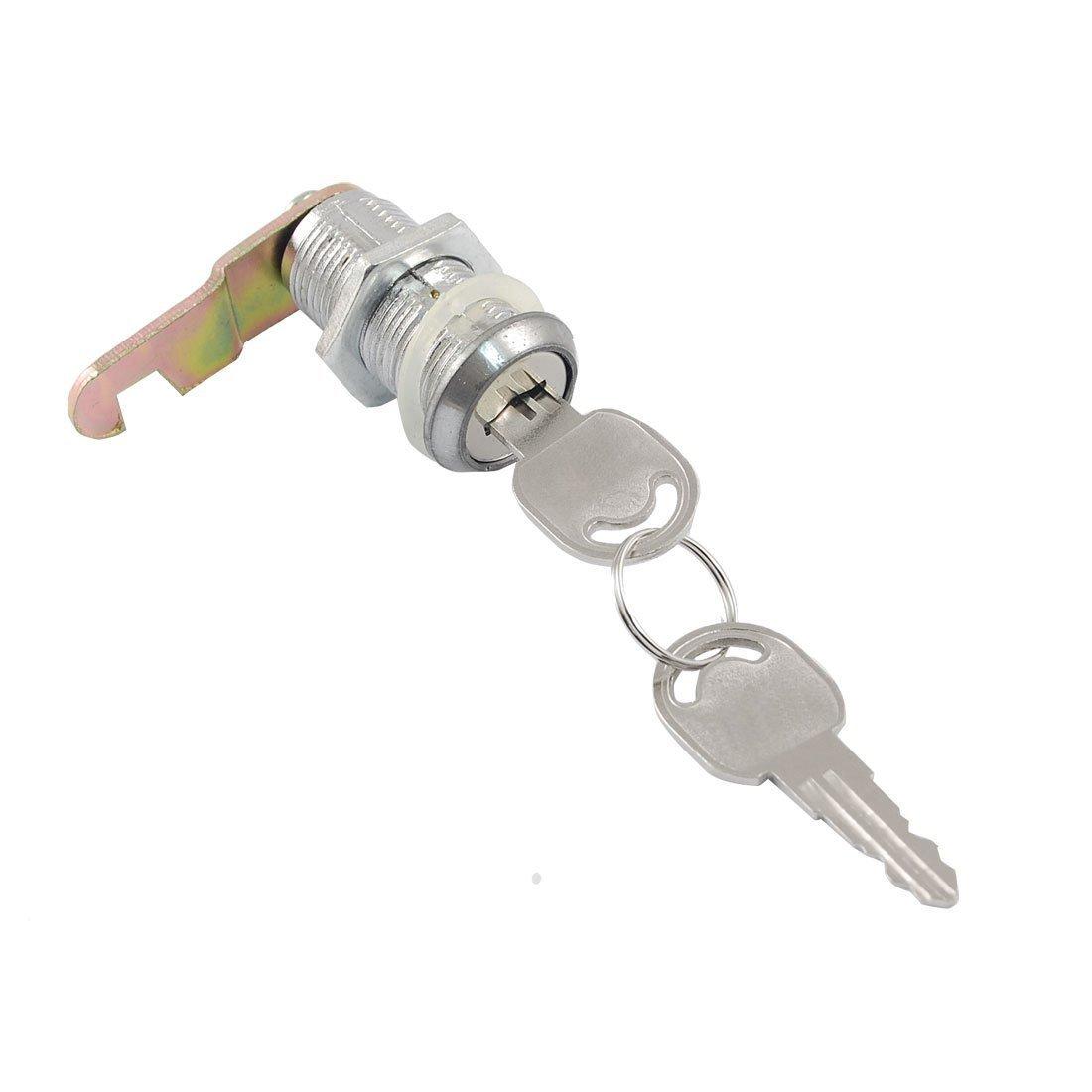 SODIAL(R) Cerradura de leva de vuelta cuarta de cajon buzon gabinete de rosca abinete de rosca