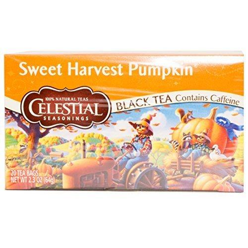 Celestial Seasonings Holiday Pumpkin Pie Black Tea, 20 Count (Pack of 6)