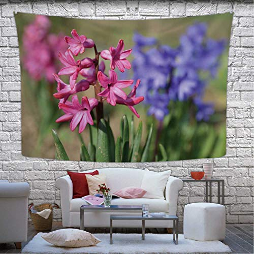 Hitecera Spring and Beautifully Blooming Flowers Hyacinth Wall Hanging