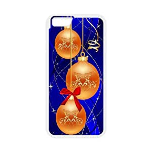 iPhone 6 Plus 5.5 Inch Cell Phone Case White Merry Christmas Ball Orgkq
