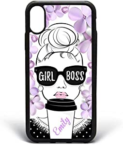 Kaidan iPhone 7 8 Plus Case X XR 5/5s/SE Girl Boss 6/6s iPhone XS Max Custom Name Girl in Sunglasses Google Pixel XL Coffee Samsung S9 S8 Plus Lilac Flowers Galaxy Note 9 8 Cover S10 Lite S10E 2DaO583