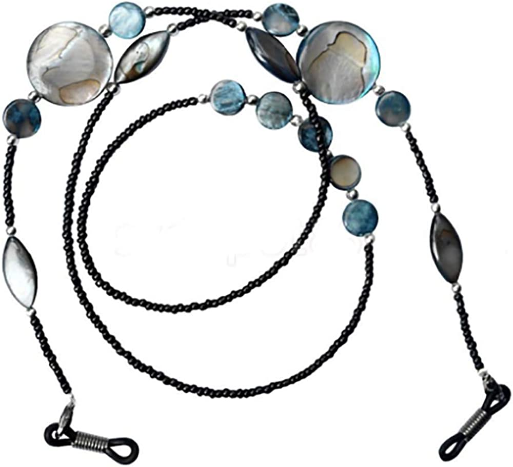 GJSC 2 Pcs B/öhmische Perlen Glaskette Anti-Rutsch-Brille Halsschnurmaske Seilkette Verhindern Sie Den Verlust Der Maske Damen Brillenkette Halskette Brillen Zubeh/ör
