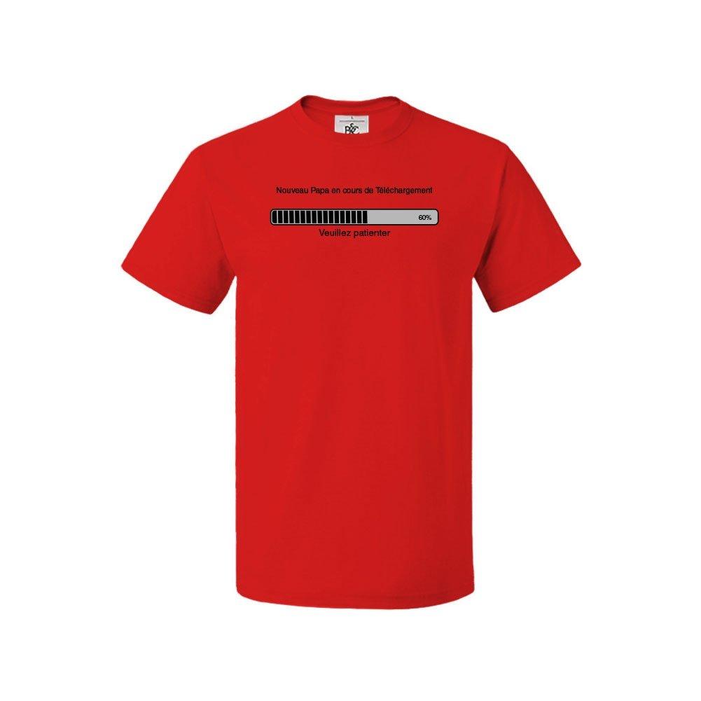 6149c66b3cc84 Mygoodprice T-Shirt col Rond Enfant Nouveau Papa en Cours téléchargement   Amazon.fr  Vêtements et accessoires