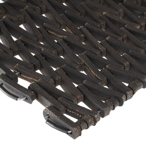 Durable Durite Recycled Tire-Link Outdoor Entrance Mat, Herringbone Weave, 30